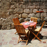 Restaurant terrace detail Royalty Free Stock Photo