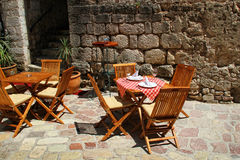 Restaurant terrace detail Royalty Free Stock Images
