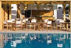 Restaurant on terrace stock image