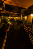 Restaurant terrace night time Royalty Free Stock Photos
