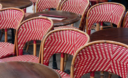 Restaurant terrace in Paris Royalty Free Stock Image
