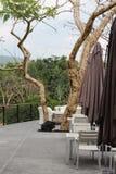 Restaurant terrace Stock Photos