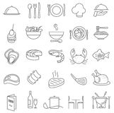 Restaurant  thin line icons. Royalty Free Stock Photo
