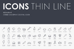 Restaurant Thin Line Icons Stock Images