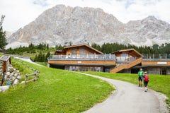 Restaurant Tirol House in Ehrwald Stock Photo