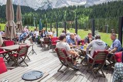 Restaurant Tirol House in Ehrwald Royalty Free Stock Images