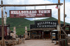 Restaurant in Tombstone Arizona. Tombstone in Arizona where the Gunfight at the OK Corral was fought in the USA. It is called the Town too tough to die Royalty Free Stock Photos