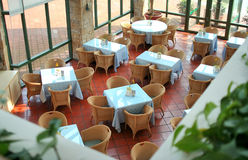 Restaurant top view Royalty Free Stock Photo