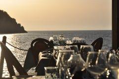 Restaurant Torre elba stockbilder