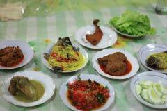 Restaurant traditionnel indonésien Photographie stock libre de droits