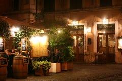 Restaurant in Trastevere Stock Image
