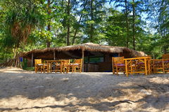 Restaurant,Trees, Phra Ae Beach, Ko Lanta, Thailand Stock Photography