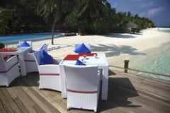 Restaurant on a tropical paradise island Stock Photography