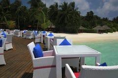 Restaurant on a tropical paradise island Stock Image