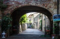 Restaurant in Tuscany Stock Photo