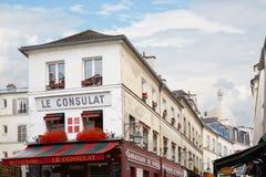 Restaurant typique de Montmartre à Paris, France Images libres de droits