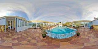 Restaurant-und Hotel komplexes königliches Sochi, Adler-Bezirk Stockbild