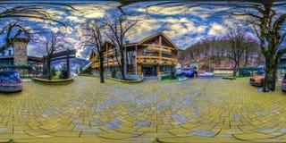 Restaurant- und Hotelkomplex Schiefer Sochi, Adler-Bezirk Lizenzfreie Stockfotografie