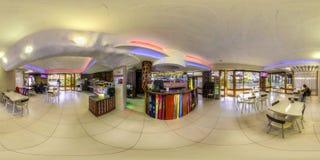 Restaurant- und Hotelkomplex Schiefer Sochi, Adler-Bezirk Stockfotografie