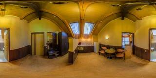 Restaurant- und Hotelkomplex Schiefer Sochi, Adler-Bezirk Lizenzfreie Stockfotos