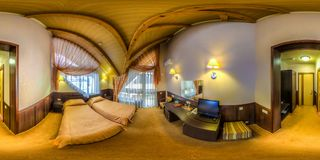 Restaurant- und Hotelkomplex Schiefer Sochi, Adler-Bezirk Stockbilder