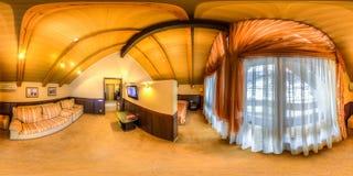 Restaurant- und Hotelkomplex Schiefer Sochi, Adler-Bezirk Lizenzfreies Stockfoto