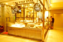 Shenzhen, China: the restaurant is in the underground shopping mall near the subway station. Stock Photo