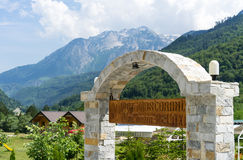 Restaurant in Valbona. Entrane to a nice restaurant in valbona Stock Photos