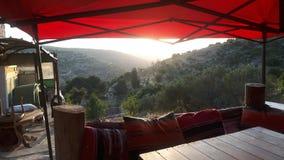Restaurant van de tent het mediterrane keuken stock afbeeldingen