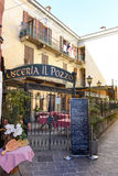 Restaurant van Menaggio, Italië Royalty-vrije Stock Afbeelding
