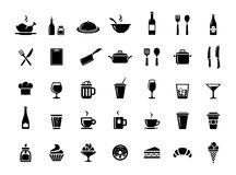 Restaurant vector icons Royalty Free Stock Photography