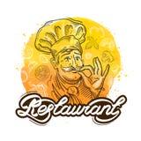 Restaurant vector logo design template. cook, chef or menu icon Stock Image