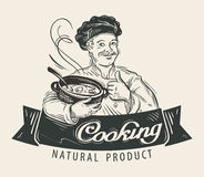 Restaurant vector logo design template. Cooking Royalty Free Stock Photos