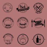 Restaurant vector set Stock Photos