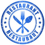 Restaurant vector stamp Royalty Free Stock Images