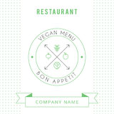 Restaurant Vegetarian Menu card design template. Royalty Free Stock Photo