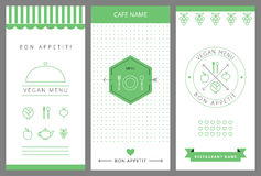 Restaurant Vegetarian Menu card design template. Stock Photography
