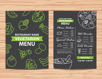 Restaurant vegetarian and vegan healthy menu design. Restaurant vegetarian and vegan healthy menu Stock Image