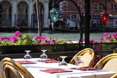 Restaurant in Venetië stock afbeeldingen