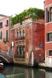 Restaurant in Venetië Stock Foto