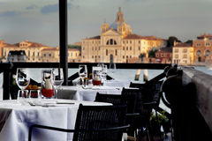 Restaurant in Venice Stock Image