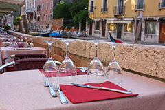 Restaurant in Venice Royalty Free Stock Photography