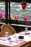 Restaurant in Venice. Along the Canal Grande Royalty Free Stock Photos
