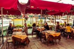 Restaurant in Venice, Italy Royalty Free Stock Photos