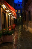 Restaurant in Venice at night Royalty Free Stock Photo