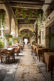 Restaurant in Verona. Restaurant in old town of Verona, Italy Royalty Free Stock Image