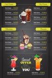 Restaurant vertical color cocktail menu Stock Images