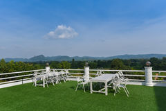 Restaurant view Mountain Royalty Free Stock Photography