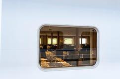 Restaurant view window Royalty Free Stock Image