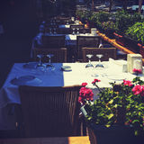 Restaurant - vintage effect style picture. Royalty Free Stock Photo